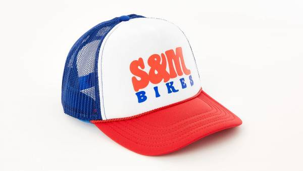 "S&M TRUCKERHAT ""KEEP ON TRUCKIN"" Red/White/Royal"