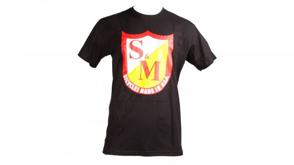 S&M T-SHIRT OG SHIELD Black