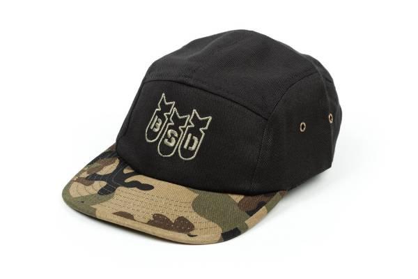 BSD CAP BOMBER 5-PANEL CAP Black/O.G. CAMO One size