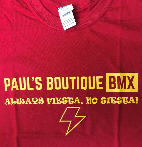 "PAULSBOUTIQUEBMX ""FIESTA"" T-SHIRT KIDS M or XL RED"