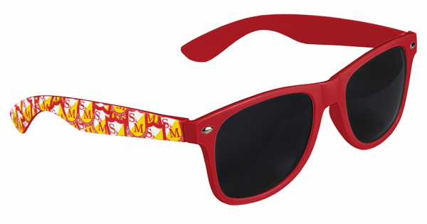 S&M SUNGLASSES SHIELD SHADES Red