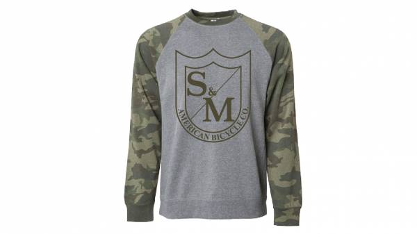 S&M SWEATSHIRT CREW NECK BIG SHIELD Camo