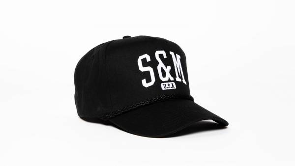 S&M HAT 5 PANEL SNAPBACK SMU Black