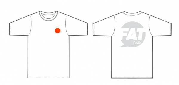"FAT BMX T-SHIRT ""SPEECH BUBBLE"" White"
