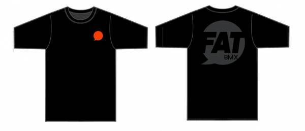 "FAT BMX T-SHIRT ""SPEECH BUBBLE"" Black"