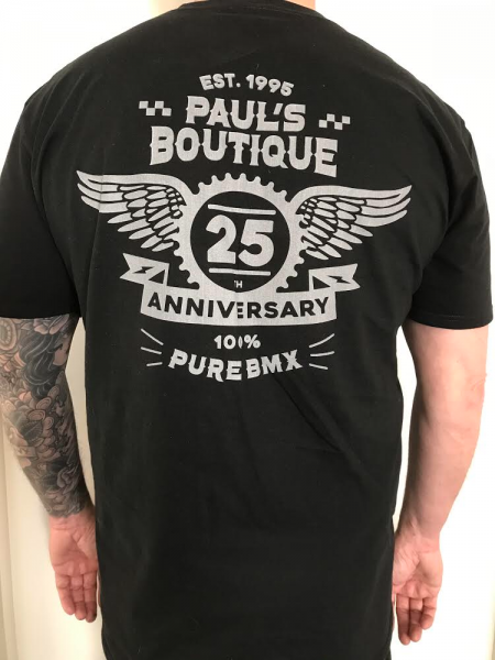 "PAUL'S BOUTIQUE BMX ""25 YEARS ANNIVERSARY"" T-SHIRT Black"