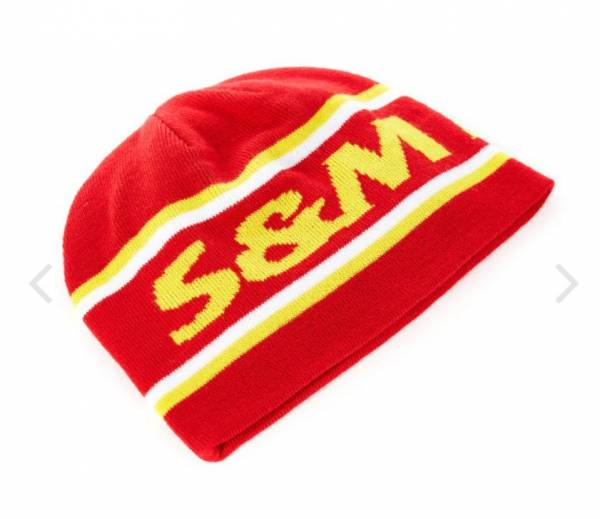 S&M BEANIE FACTORY KNIT BEANIE Red NEW!