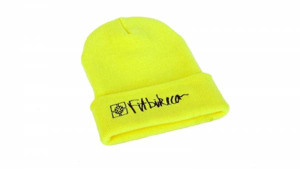 FIT BEANIE HAZARD Neon Yellow