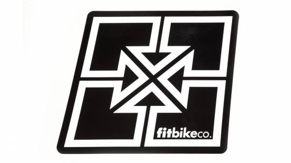 FIT STICKER BIG KEY LOGO Black/White