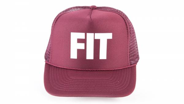 FIT HAT BLOCK TRUCKERHAT Maroon