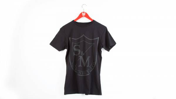 S&M T-SHIRT BIG SHIELD BLACK PRINT Black