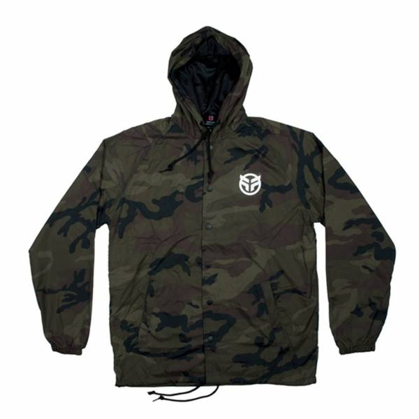 FEDERAL HOODED WINDBREAKER JACKET LOGO Camo