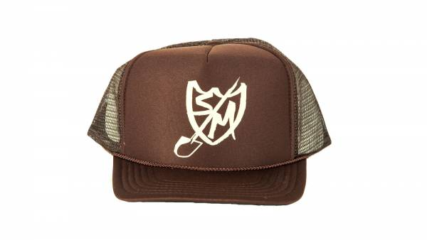 S&M HAT SHOVEL SHIELD TRUCKER Brown