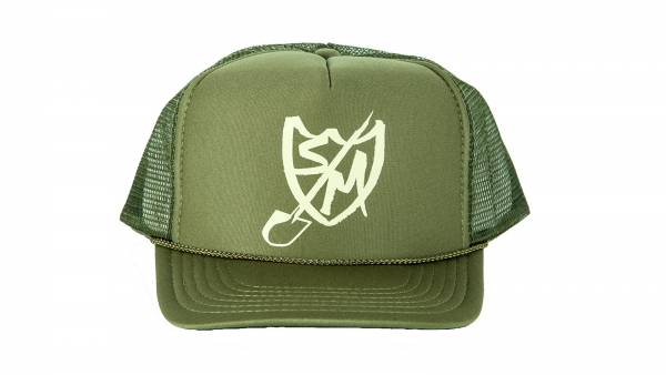 S&M HAT SHOVEL SHIELD TRUCKER Olive