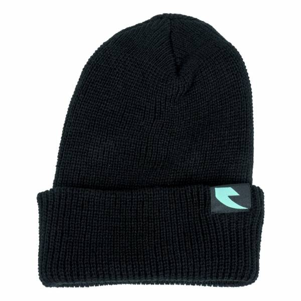 TALL ORDER BEANIE LOGO Black with Teal logo