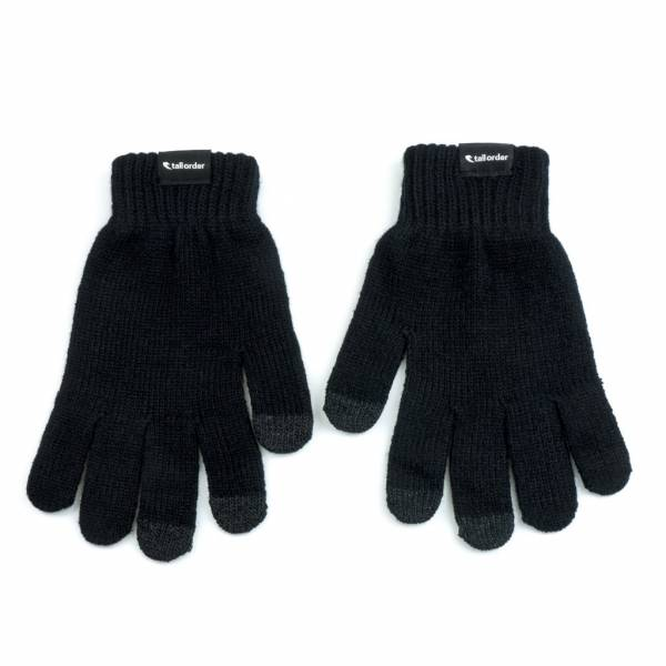 TALL ORDER GLOVES TOUCH SCREEN L/XL Black