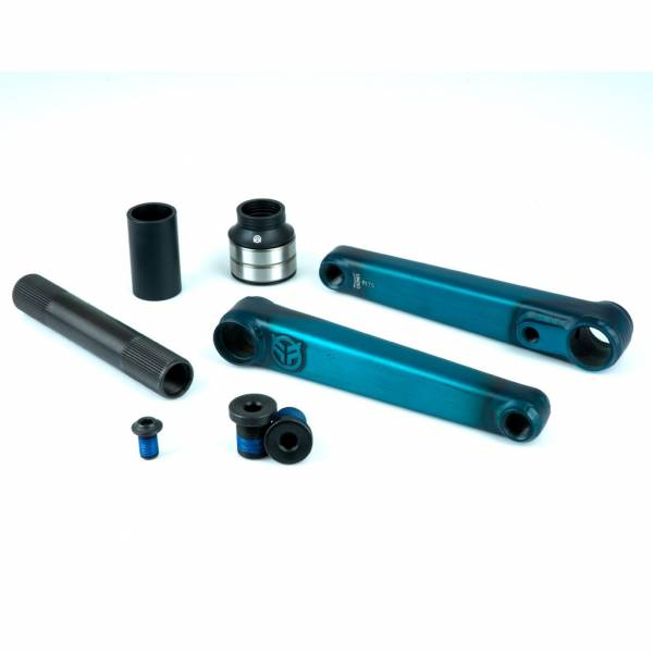 FEDERAL VICE V2 CRANKS 24mm Axle 175mm Clear Teal
