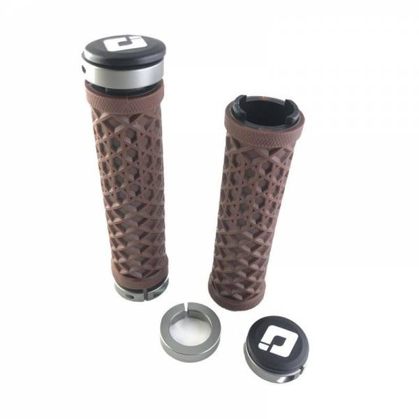 ODI VANS GRIPS LOCK ON BROWN WITH GRAPHITE CLAMPS NEW!