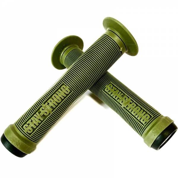 ODI GRIPS STAY STRONG FLANGED SOFT Army Green