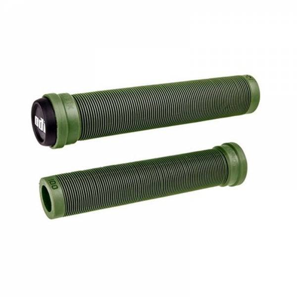 ODI GRIPS SLX FLANGELESS 160MM LONG GRIPS Army Green