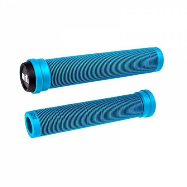 ODI GRIPS SLX FLANGELESS 160MM LONG GRIPS Light Blue