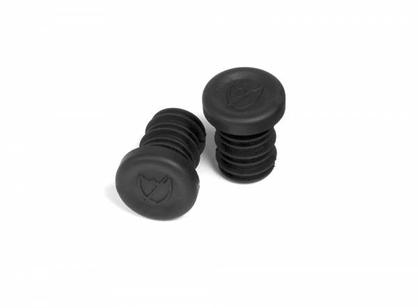 S&M GRIPS BAR ENDS PUSH IN PLASTIC PLUGS Black