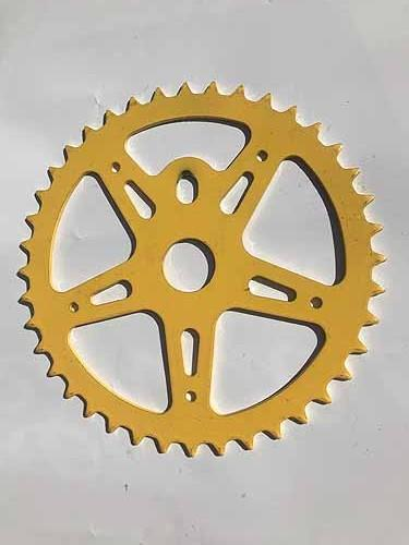 CHAIN WHEEL 40T STEEL NOS Yellow