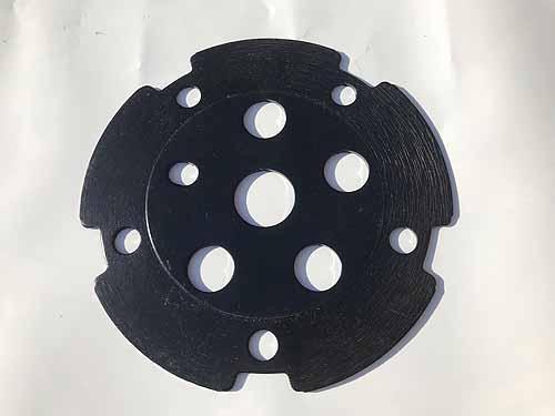 CHAIN WHEEL SPIDER DISC STEEL Black
