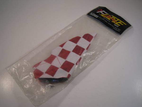 BRAKE LEVER COVER FLITE NOS INCL STICKER White/Red