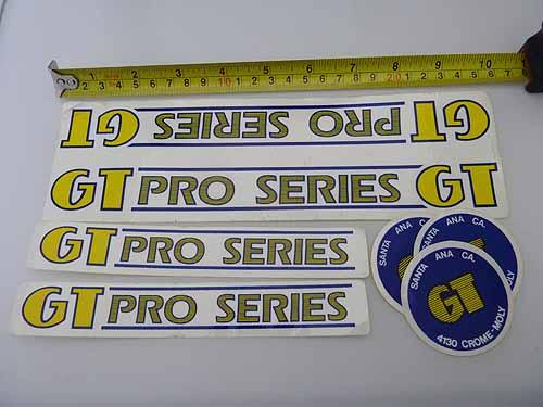 STICKERSET COPY FRAME GT PRO SERIES Clear/Yellow/Blue