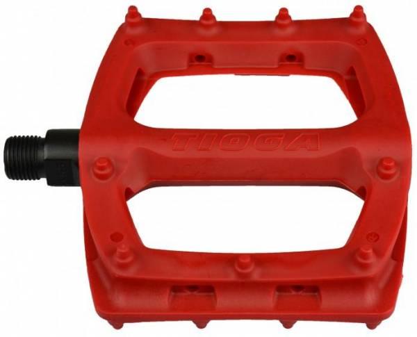 """TIOGA BMX SUREFOOT PLASTIC PEDALS  9/16"""" Red"""