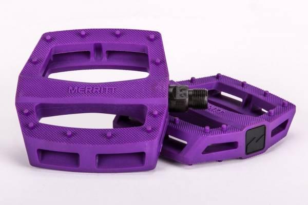 """MERRITT PEDALS P1 PLASTIC 9/16"""" Purple"""
