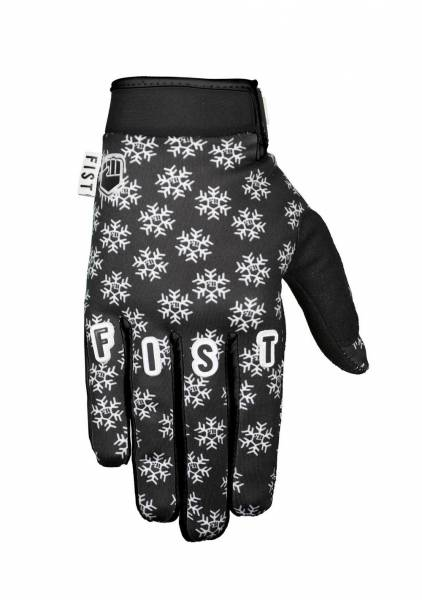 FIST GLOVES FROSTY FINGERS SNOWFLAKE WINTER GLOVES L Black