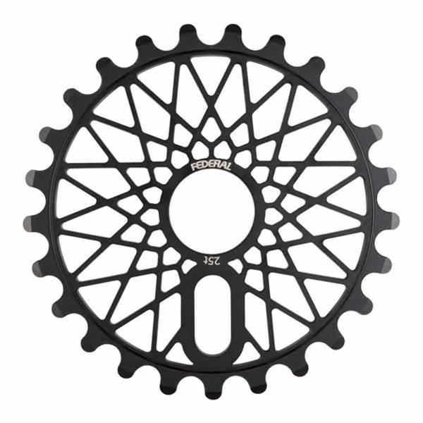 FEDERAL SPROCKET 28T BBS CROMO BOLT ON Black