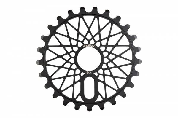 FEDERAL SPROCKET 25T BBS CROMO BOLT ON Black