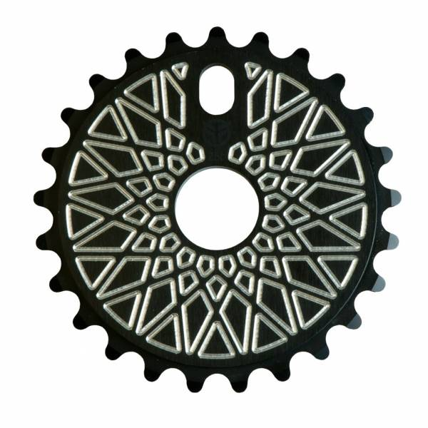 FEDERAL SPROCKET 28T BBS SOLID BOLT ON Black/Silver