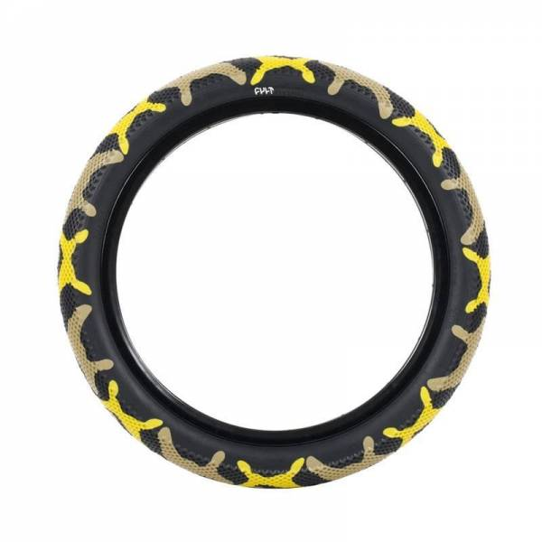 "CULT VANS TIRE 20 INCH x 2.40"" YELLOW CAMO/BLACK"